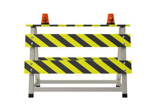 Building barrier. On a white background Royalty Free Stock Photos