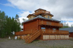 A building on a beach in alaska Royalty Free Stock Photography