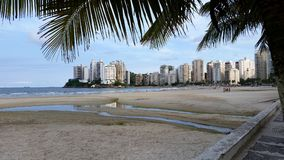 Building on the beach. Guaruja Brazil Royalty Free Stock Image