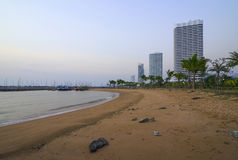 Building a beach in the evening Royalty Free Stock Photography