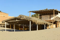 Building on Beach in Los Organos, Peru Stock Photo