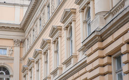 Building with beautiful architecture of Lviv.  royalty free stock image