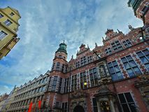 Building beautiful in the centre of Gdansk royalty free stock image