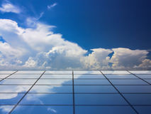 Building and beautiful cloud. And blue sky royalty free stock photography