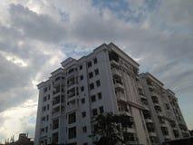 Building. Beautiful evening click at Guwahati stock images