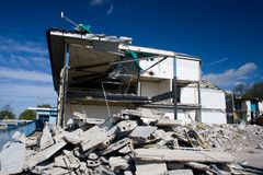Free Building Being Demolished Stock Photography - 977532