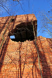 The building after being hit by an artillery shell Royalty Free Stock Photography