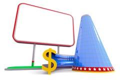Building billboard dollar Stock Photography