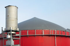 Building of a bio gas plant Royalty Free Stock Photos