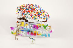 Building Birthday Wishes Stock Images