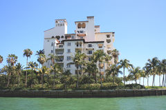 Building on Biscayne Bay Royalty Free Stock Photo