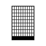 Building black color icon . Stock Image