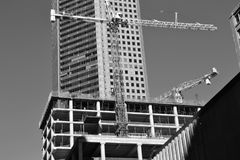Building, Black And White, Landmark, Metropolis stock photography