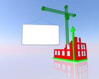 Building and blank billboard Royalty Free Stock Images