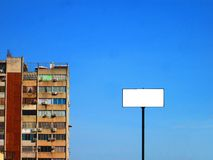 Building and blank Billboard. royalty free stock images