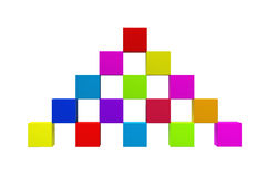 Building block. Computer generated image of the building array cubes Stock Image