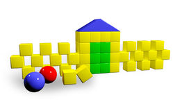 Building block. Computer generated image of the building block Stock Photography
