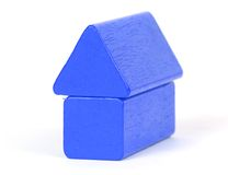 Building block. An isolated photo of a building block royalty free stock image