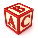 Building block. ABC building block on white background Stock Photography