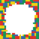 Building Block Brick Frame Background Pattern Stock Image