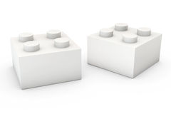 Building Block on White Royalty Free Stock Photos