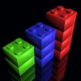 Building Blocks 1. Building blocks on a black background Stock Illustration