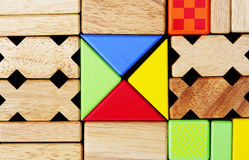 Building blocks. Colorful different shaped building blocks royalty free stock photos