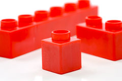 Building Blocks. Toy building blocks isolated against a white background stock photos