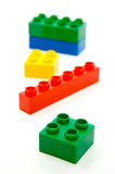 Building Blocks. Toy building blocks isolated against a white background stock photo