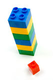 Building Blocks. Toy building blocks isolated against a white background royalty free stock image