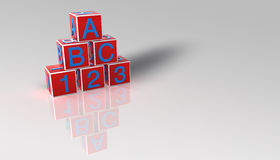 Building blocks. With letters and numbers Royalty Free Stock Photography