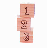 Building Blocks With 123 Showing Stock Photo