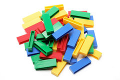 Building Blocks. On White Background Royalty Free Stock Photo