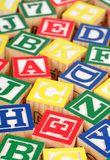 Building Blocks. Alphabet Building Blocks - a background Royalty Free Stock Photos