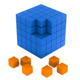 Building blocks. Of a business or project, work in progress concept stock illustration