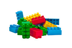 Building blocks. Colorful building blocks on white background Stock Photography