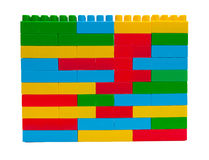 Building blocks. Colorful building blocks on white background Stock Image