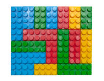 Building blocks. Colorful building blocks on white background Royalty Free Stock Images
