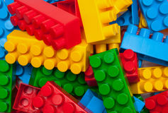 Building blocks. Colorful building blocks background. close-up Stock Photo