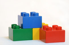 Building Blocks. Picture of 4 blocks in different colors Stock Photos