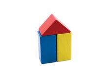Building blocks. House made of building blocks Royalty Free Stock Photos