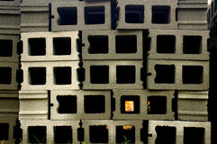 Building blocks. Cinder blocks royalty free stock image
