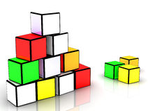 Building blocks. Colors block building for Corporate Background Stock Images