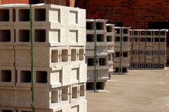 Building blocks. Several stacks of concrete building blocks Royalty Free Stock Photography