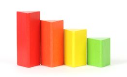 Building blocks. Of various sizes royalty free stock photography