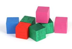 Building blocks. A collection of painted building blocks stock photos