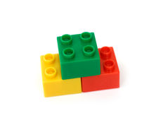 Building Blocks. On white background stock image