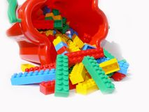 Building blocks. A children building blocks toy Stock Images