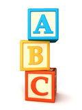 Building blocks. ABC building blocks on white background Royalty Free Stock Photography