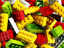 Building blocks background. 3D illustration. Multi colored building blocks background. 3D illustration Royalty Free Stock Images